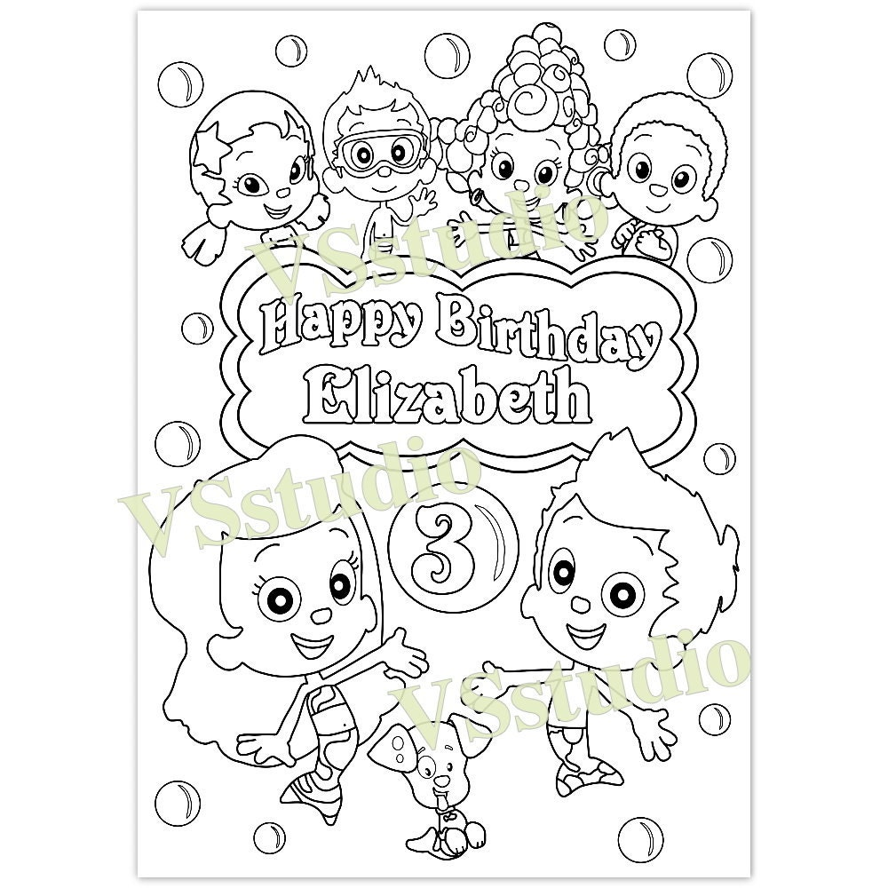 It is a graphic of Insane Bubble Guppies Printables