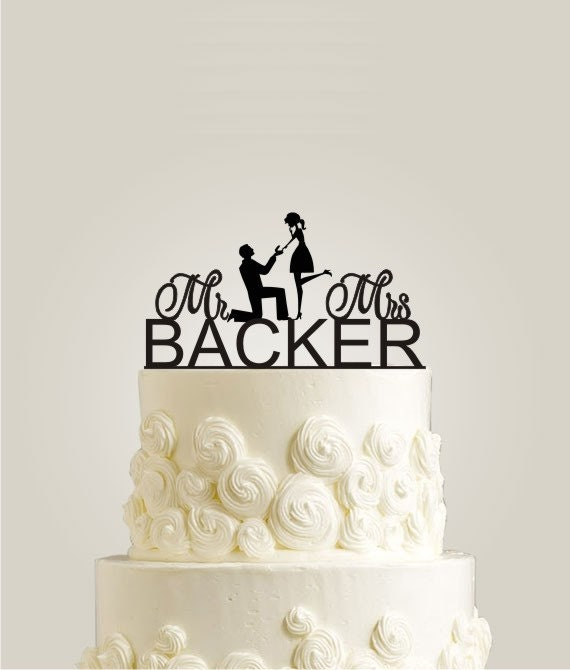 Cake Decoration Items Names : Wedding Cake Topper Personalized Monogram Last by ...