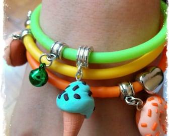 Polymer Clay Rubber Bracelets