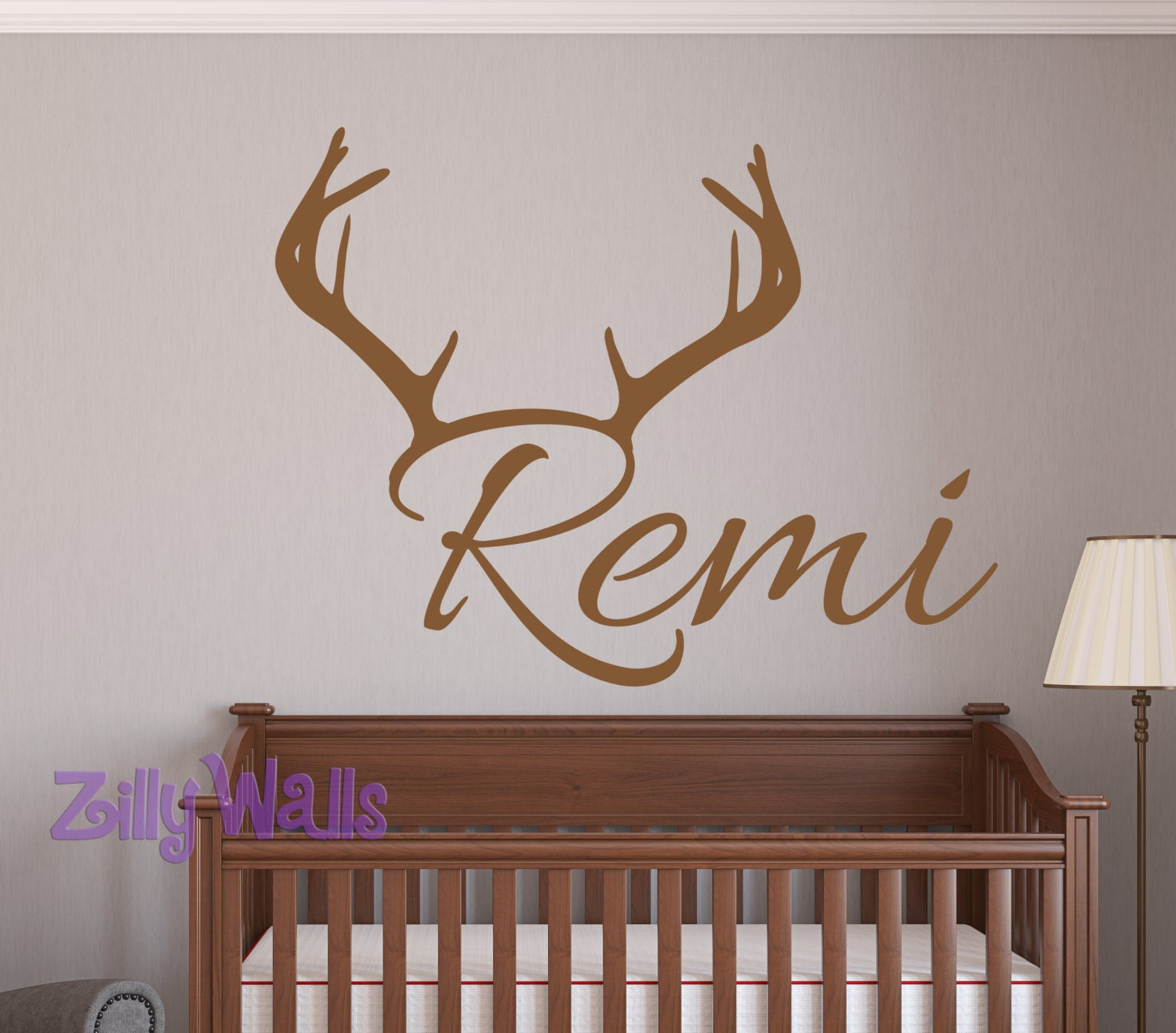 Name wall decal kids wall decals deer wall stickers for Deer wall decals