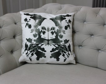 Rorschach Inkblot Test Faux Suede Pillow Cushion