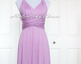 Infinity Dress Convertible Dress short Wrap Bridesmaid Dress Gown Formal in Lilac