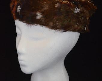 Vintage Pheasant Feather Lady's Tilt Hat