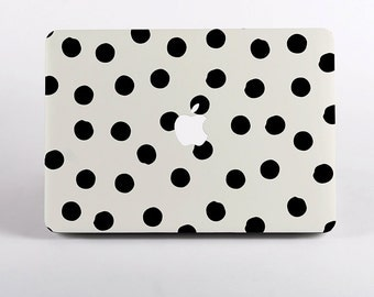 Painted Dots  Premium MacBook Case Design for MacBook Pro Retina Display and MacBook Air Case. Polka Dots MacBook Case Cover