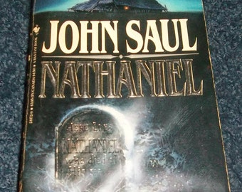 John Saul  NATHANIEL 1984 Vintage Paperback Horror Novel Creepy Ghost in a Haunted Barn