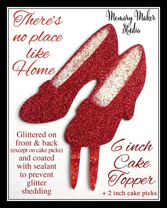 ruby red slipper cake topper