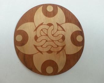 Celtic Moon Knot Wooden Sticker