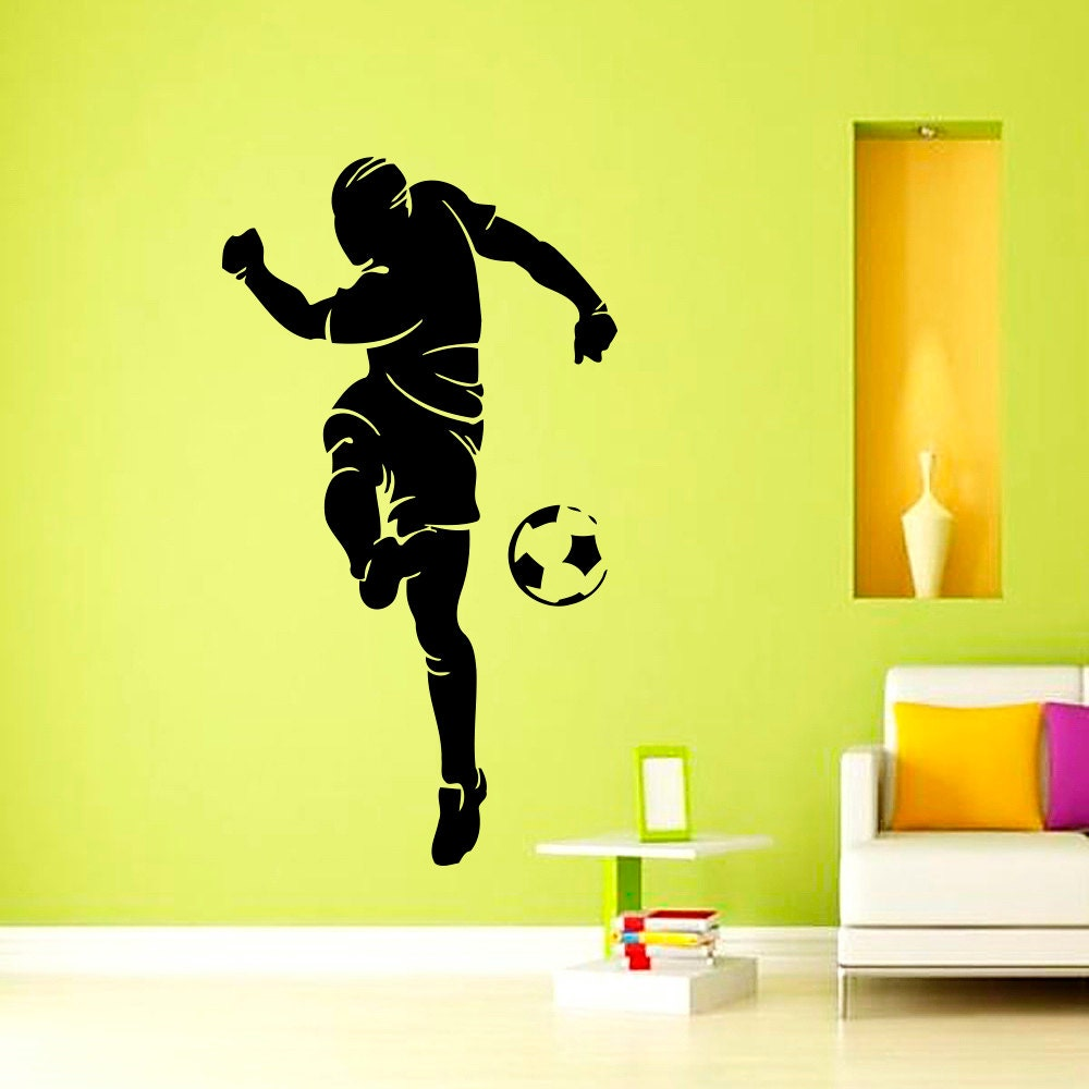 wall decals soccer player football sports wall decal vinyl
