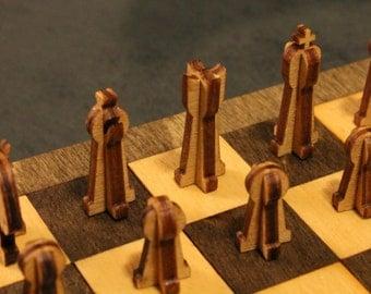 Laser Cut Portable Chess Board