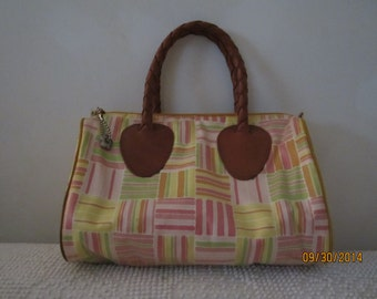Colorful, water resistant Handbag by Nordic House Designs, made in USA