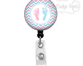 Badge Holder - Labor and Delivery Nurse Badge Reel -  NICU Nurse Badge Holder - Retractable Badge Reel - NICU Badge Reel  - 1009