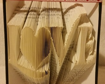 Love book folding template