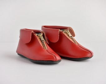 Vintage Red Toddler's Shoes - Terry Quality Footwear - Pixie - Booties