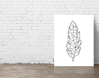 Angel Fish Geometric Origami Print Poster by