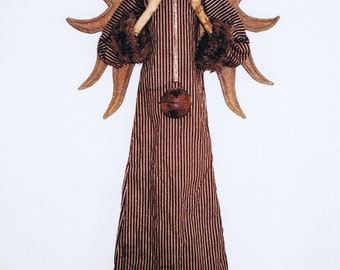 Primitive Folk Art Santa Claus Angel Doll E Pattern