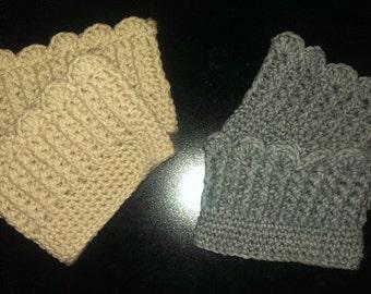 Shell Border Boot Cuff Crochet Pattern