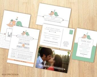 love bird invitation | etsy, Wedding invitations