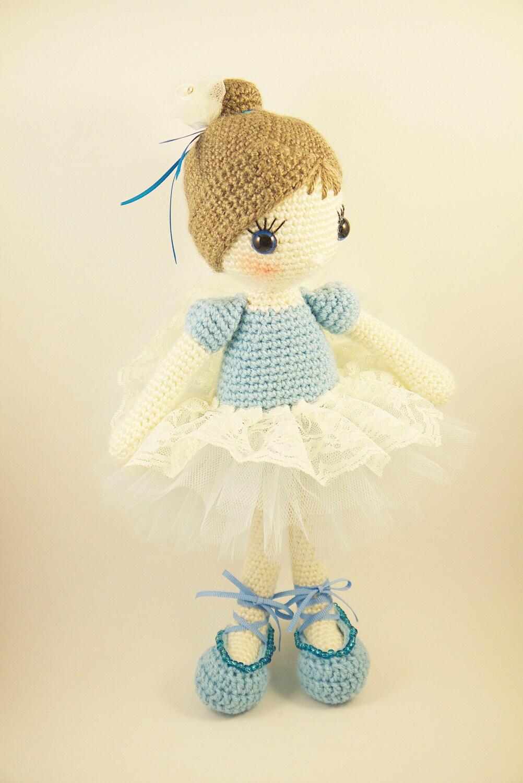 Amigurumi Ballerina Doll : Amigurumi crochet doll Beautiful ballerina by BubblesAndBongo