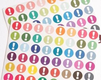 Reminder stickers, important stickers, planner stickers, organizer exclamation, eclp filofax happy planner kikkik