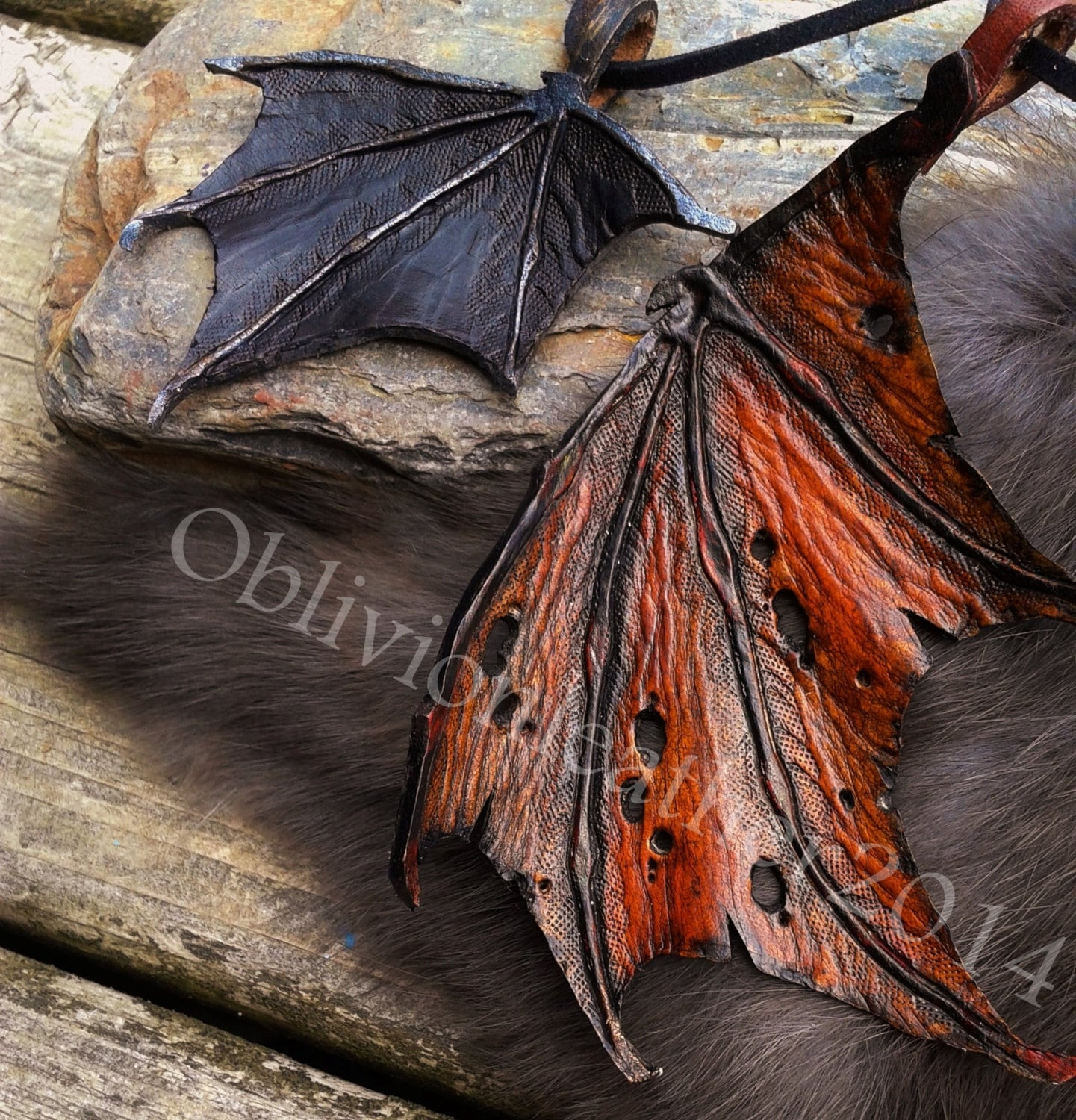 Dragon Wings / Made To Order / Leather Jewelry / Dragon - photo#31