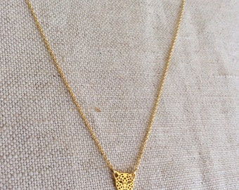 Gold Tiger Necklace - Tiger Necklace - Tiger Jewelry - Gold Tiger Jewelry - Cougar - Tiger - Cougar Necklace - Tiny Tiger Necklace, GPN11