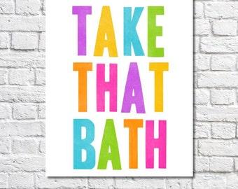Kids Bathroom Art Decor Bathroom Ideas Boy Bathroom Rules Print Girls Bathroom Wall Art Poster Picture Child Bathroom Quote Take A Bath Sign
