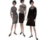 60s Vogue Special Design Princess Seam Coat pattern Pencil Skirt vintage 34-26-36 fitted blouse Bust 34 Wasit 26 madmen SALE vogue 6942