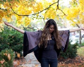Coppertown Cape ONE SIZE lined, outerwear, fall fashion, shawl, upcycled, handmade, eco fashion, vintage, buttons, one of a kind, wool