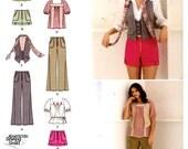 Boho Peasant blouse tops pants shorts vest scarf sewing pattern Simplicity 2665 Junior Junior plus includes plus size UNCUT