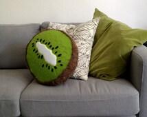 Kiwi Fruit Pillow - Giant Furry Plush for Fruit Lovers