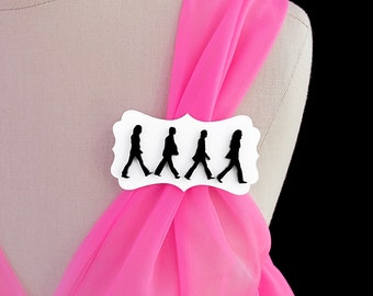 Abbey Road Brooch - The Beatles -  Acrylic Laser Cut Pin (C.A.B. Fayre Original Design)