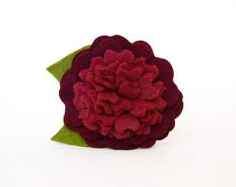Dog Collar Flower - Burgundy Blossom