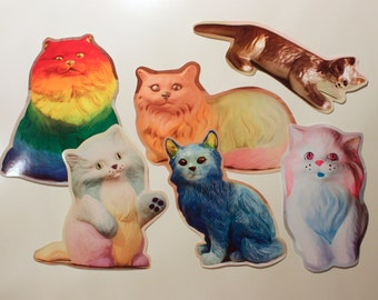 Cosmic Cat Sticker Set - Set of 6