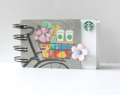 STARBUCKS Upcycled Gift Card Spiral Notebook Notepad