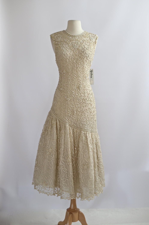 Vintage gatsby dress vintage 20s style wedding dress 1980s for 20s wedding dresses