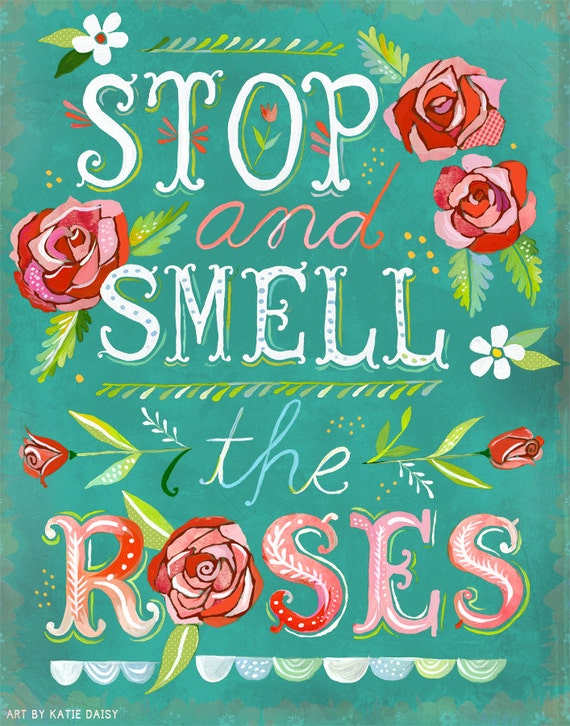Ray of Sunshine, Stop And Smell The Roses - Vertical Print