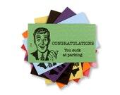 Letterpress Parking Cards, Congratulations, You Suck at Parking, Bad Parking Job