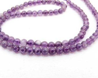 Amethyst 2 mm  Round  Bead  Strand 126  Beads Necklace Bracelet Earrings Jewelry Supply #B7