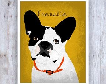 French Bulldog Art, French Bulldog Decor, French Bulldog Print, French Bulldog Gift, French Bulldog Poster, French Bulldog Wall Art