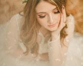 Boho hair accessory, wedding head piece, woodland crown, floral crown, bridal hair accessory - Meadow
