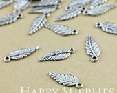 20pcs Antiqued Vintage Silver Leaf Charm / Pendant (23613)