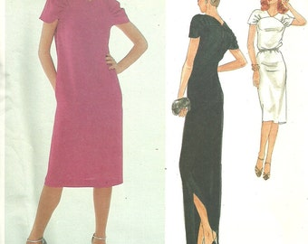 Vogue 2455 / Vintage Designer Sewing Pattern By Jerry Silverman / Dress Gown / Size 8