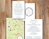 Wedding Map -- Atlanta, GA, Same Map, Change Locations