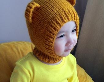 NEW 2T-4T Pooh Bear wool hat  #70