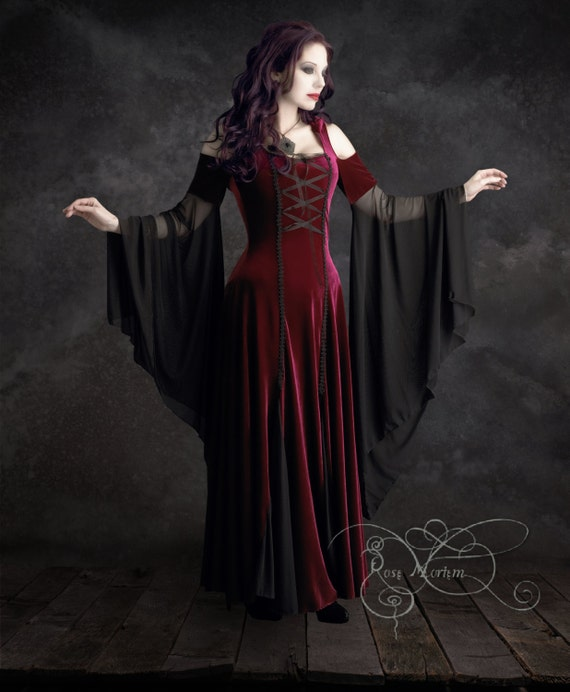Imaginaerum Handmade Bespoke Romantic Gothic Vampire Dress