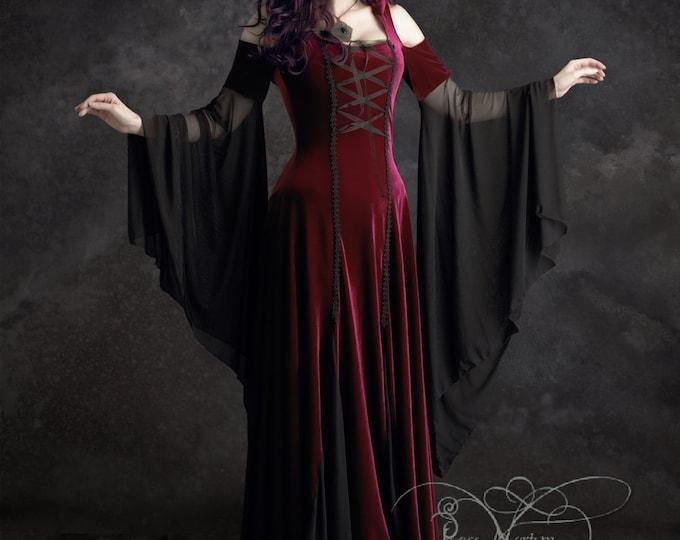 Imaginaerum Fairy Tale Romantic Wedding Dress - Handmade Bespoke Romantic Gothic Fairy Renaissance Dress in Custom Size or Colors
