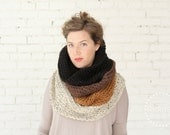 SALE | LIMITED EDITION | Ombré Cowl Scarf in Chestnut | Cozy Chunky Infinity