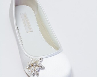 Flat Wedding Shoes - Ballet Flats - Choose From Over 200 Colors - Pearls - Crystals - Parisxox By Arbie Goodfellow - Wedding Shoes - Flats
