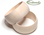 CLEARANCE: Wooden bangle - 30mm domed round size XS, unfinished wooden bracelet, wood bracelet, wood bangle, raw wood bangle, wood bracelet