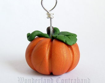 SALE - Pumpkin - Mini Sculpture - Clay Charm